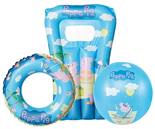 Happy People- Peppa Pig Set de Playa, Color carbón, 0 (16268)