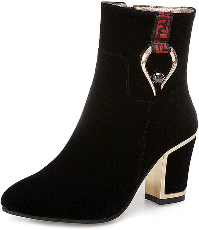 Damen Mode Kleid Metallic Chunky Chunky Chunky Stiefeletten Spitz Plattform Stiefelie Reißverschluss Blockabsatz Kurze Stiefel  87d06d