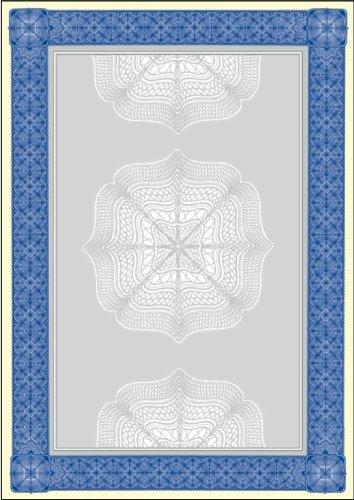 SIGEL DP490 Motiv-Papier, Wertpapier blau, 185 g, DIN A4, 20 Blatt