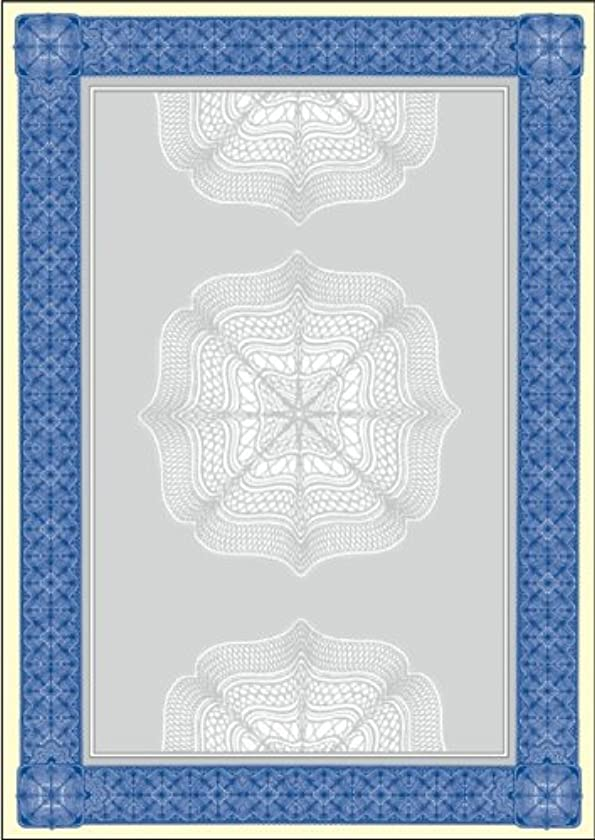 Sigel Motif Certificate Cardboard A4 Papers - Blue (20 Sheets)