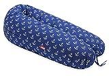 Scamp – Cojín universal para embarazo y lactancia, incluye funda en varios diseños azul Ancora BlueWhite