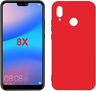 Mobile protection Cover, Flexible Plastic, Matte color Case for Huawei Honor 8X (Red)