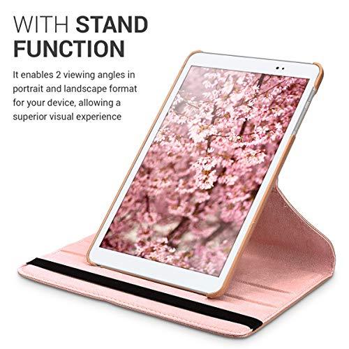 Huawei MediaPad T1 10 Hülle – 360° Tablet Schutzhülle Cover Case für Huawei MediaPad T1 10 – Rosegold - 5