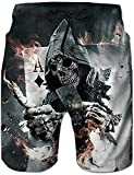 SKYRAINBOW Men's Beachwear Quick Dry Swim Trunks Punisher Flame...