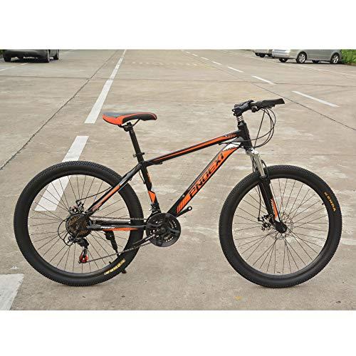YUANP Bicicleta De Montaña De 26 Pulgadas Cambio De 21 Velocidades Izquierda 3 Derecha 7 Cuadros Bicicleta De Montaña con Absorción De Impactos,C-20in