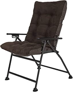 Sunon Folding Camping Chair, Adjustable 5-Position Reclining Mesh Back Lounge Chair with Detachable Cotton Pad