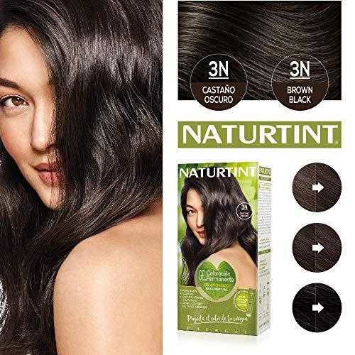 Naturtint | Haarfarbe Oohne Ammoniak |Hoher Anteil an natürlichen Inhaltsstoffen | 3N. Dunkelbraun | 170ml