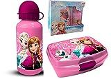 Theonoi Juego de desayuno de 2 piezas para niños – a elegir: Frozen – Minnie – 1 fiambrera...