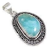 Goyal Craft GPBN40 - Colgante de plata con piedras preciosas naturales