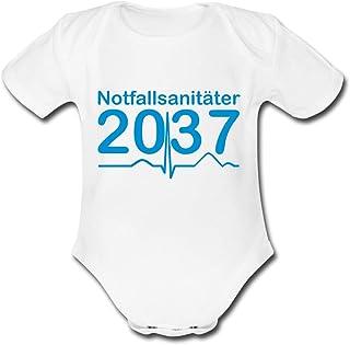 Spreadshirt Notfallsanitäter 2037 Sanitäter Nachwuchs Baby Bio-Kurzarm-Body