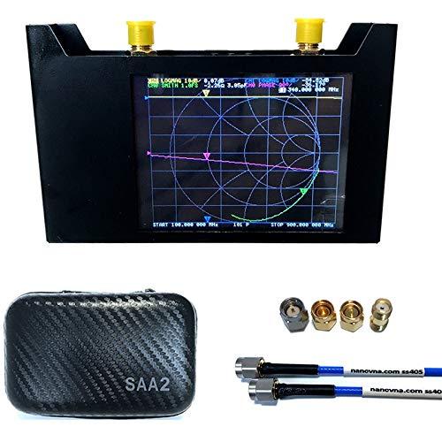 TOOGOO Analizador Vectorial de Redes V2 3G S-A-A-2 Analizador de Antena NanoVNA de Onda Corta HF VHF UHF con Analizador de Antena EVA Case