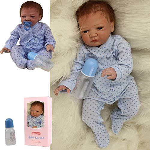ZIYIUI Realistyczna lalka dla dzieci Reborn 20 cali 50 cm miękki silikon winylowy całe ciało realistyczna tania zabawka dla noworodków