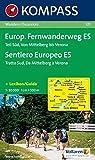 Europ. Fernwanderweg 121 E5 Süd kompass D/I (German Edition)