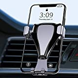 Warxin Soporte Movil Coche Gravedad, Automatico Ajustable Móvil Coche para Rejilla del Aire Rotación Universal Gravity Soporte Teléfono para iPhone Samsung Smartphone y GPS Móviles Dispositivo