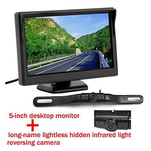 5 pouces couleur TFT LCD moniteur de vue arrière de voiture parking écran de moniteur de vision arrière pour DVD VCD Caméra de recul avec étanche avec voiture caméra de stationnement de vue arrière