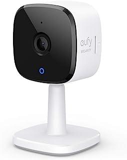 eufy Security Indoor WiFi Camera 2K bewakingscamera voor binnenshuis, persoonsherkenning, met stemassistent, bewegingssens...
