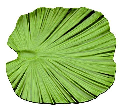 APS Plateau Feuille de Palme 35 x 34 cm, H: 4,5 cm mélamine, grün