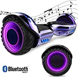 GeekMe Gyropode Hover Scooter Board Overboard 6.5 Pouces Gyropode Électrique Scooter Board Hover avec Bluetooth Intégré et Lampes LED Coloré Clignotantes aux Roues