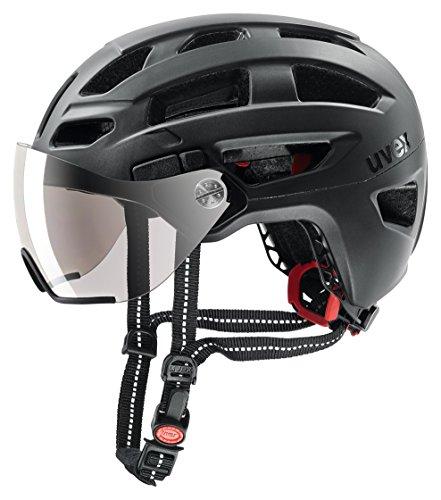 Uvex Unisex– Erwachsene, finale visor Fahrradhelm, black mat, 56-61 cm