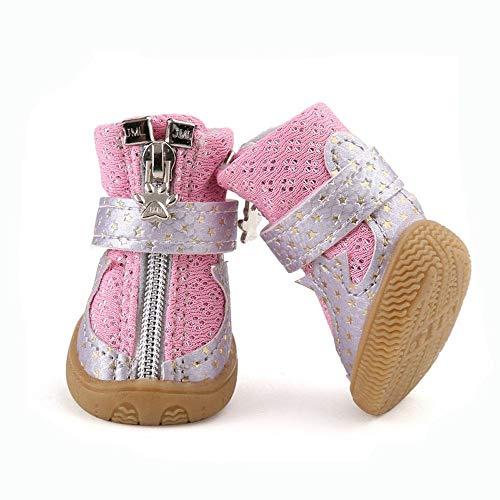 BXGZXYQ Zapatos para Mascotas, Tela Transpirable, Zapatos Cómodos, Zapatillas Deportivas para Perros...