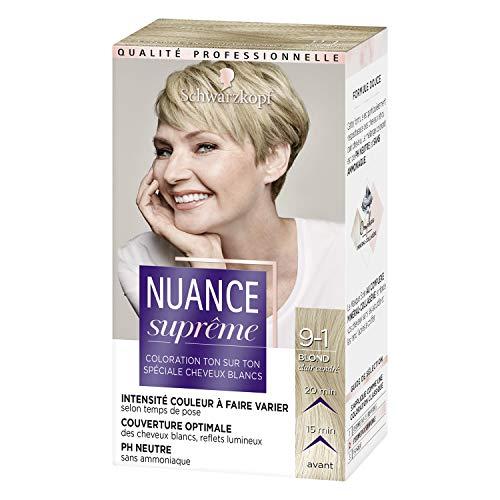 Schwarzkopf - Nuance Suprême - Coloration Cheveux - Ton sur Ton Blond Cendré 9-1 - Etui 60 ml