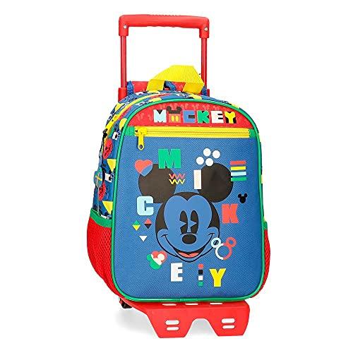 Disney Mickey Shape Shifter Mochila Preescolar con Carro Multicolor 23x28x10 cms Poliéster 6,44L