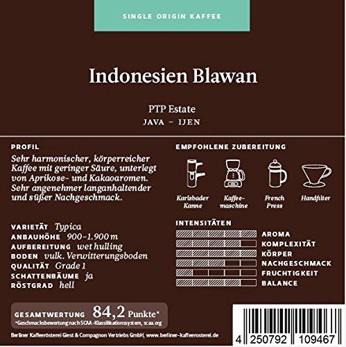 BKR | Kaffee | Indonesien | Java Blawan | Arabica | Single Origin 1000g Bohne