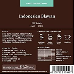 Berliner Kaffeerösterei Indonesien Java Blawan