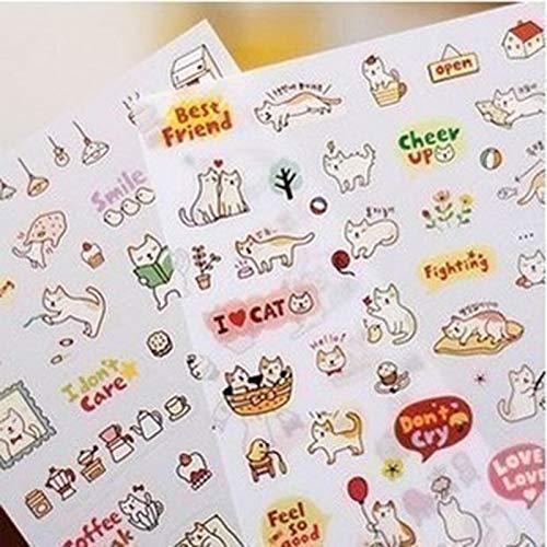 YRBB 45Stks/doos Cartoon Flamingo Diy Scrapbook Papier Lable Stickers Ambachten En Scrapbooking Decoratieve Lifelog Sticker Leuke briefpapier