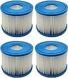 WuYan Paquete de 4 filtros de piscina para Intex PureSpa tipo S1 cartucho para 29001E PureSpa filtro inflable de piscina Catridge