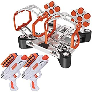 USA Toyz Compatible Nerf Targets for Shooting - AstroShot Gyro Nerf Target Game, 2 Blaster Toy Guns for Boys or Girls and ...