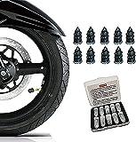 GHJU Tornillos de Goma para reparación de neumáticos, Clavos de Goma para reparación de neumáticos sin cámara, Kit de reparación de neumáticos para Reparar pinchazos y Tapones Planos