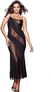 4532a4ec1 Hisexy Long Semi Sheer Maxi Dress for Women Plus Size Sexy Robe Lingerie Set