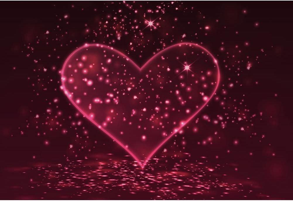Haoyiyi 10x8ft Love Heart Backdrop 5 ☆ very popular Bright Soldering Romantic Glitter Pink