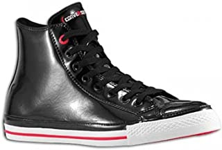 Chuck Taylor All Star RED Black Patent Leather Red Stripe and Sole Hollywood Hi 103673