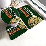 florasun Jäger-Mei-Ster - Juego de 3 alfombrillas antideslizantes para baño (espuma...