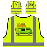 Pastelería Sabrosa Chaqueta de seguridad amarillo personalizado de alta visibilidad r388v