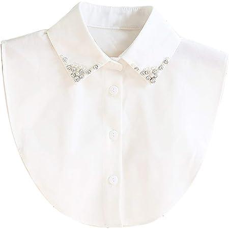 Collar Falso Camisa Desmontable Mujer Cuello Media Camisa ...