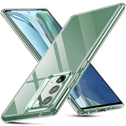 ESR Funda de Cristal Templado para Samsung Note 20/Note 20 5G[Funda Cristal Templado 9H] [Resistente Arañazos][Marco TPU Flexible][Funda Protectora para Samsung Note 20 2020][Transparente]