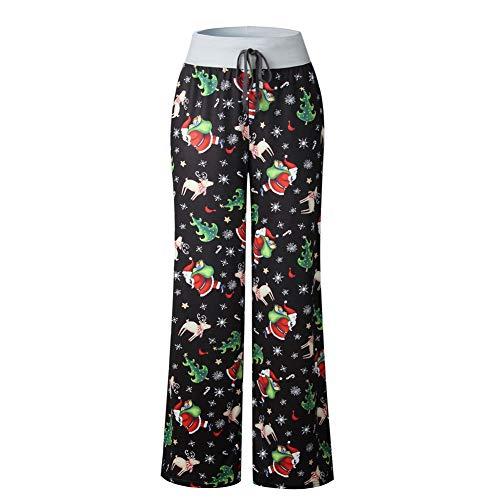 Pantaloni da Donna Casual Allacciati Autunno E Inverno Pantaloni Larghi con Stampa Mimetica Allacciata alla Moda