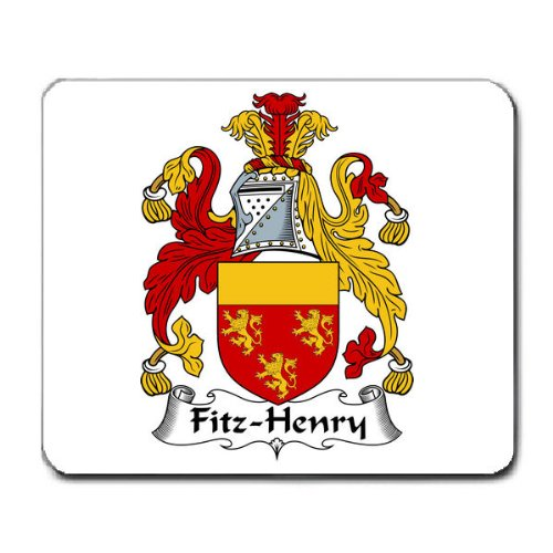 Fitz Henry Family Crest Coat of Arms Mouse Pad
