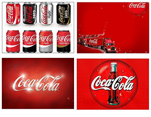 Capricci Italiani Lot de 4 Sets de Table Motif Coca Cola (3° Version)