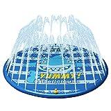 Kyerivs Splash Pad Sprinkler und Splash Play Matte Wasserspielzeug Splash Spielmatte Sommer Garten...