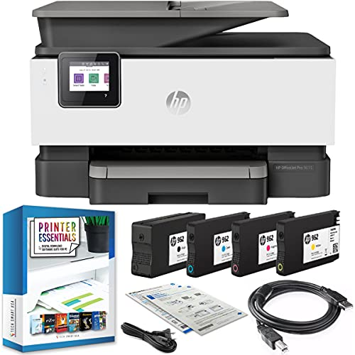 HP OfficeJet Pro 9015 All-in-One Wireless Printer w/Smart Home Office Productivity, Instant Ink, Works with Alexa 1KR42A Print, Scan, Copy, Fax, Mobile Bundle with DGE USB Cable + Business Software