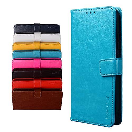 BRAND SET Schutzhülle für TP-Link Neffos X20 Handyhülle Brieftasche Kunstleder mit Magnetverschlussverriegelung & Stent-Funktion Geeignet Flip Handyhülle für TP-Link Neffos X20(Blau)
