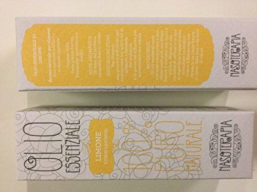 Nasoterapia Aceite esencial de limón 100% puro.
