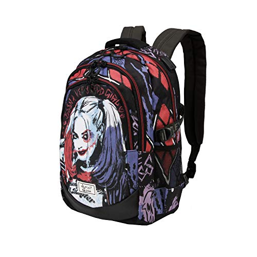 KARACTERMANIA Harley Quinn Crazy-Running HS Rucksack 1.2, 00978, Multicolour