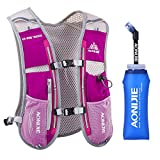 Lovtour Premium Running Race Hydration Vest Pack for Marathon, Cycling, Hiking with 20 Oz(600ml) BPA-Free TPU Soft Water Bottle As Gift (Pink)