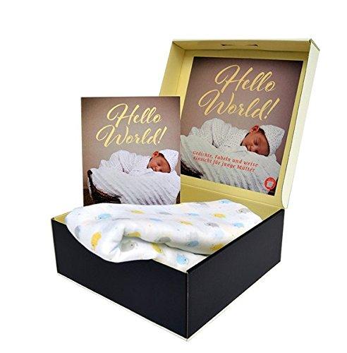 Geschenkbox mit Buch: HELLO WORLD - DIE NEUGEBORENEN BOX