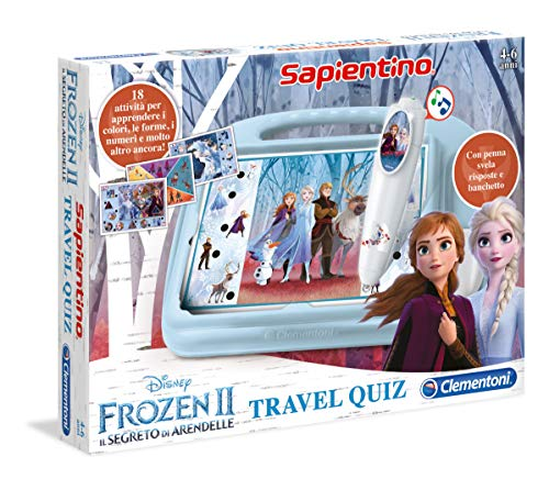 Clementoni- Sapientino Travel Quiz-Disney Frozen 2, Multicolore, 16186